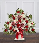 Red Rose & Lily Floor Basket from Olney's Flowers of Rome in Rome, NY