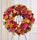 Serene Blessings ™ Bright Standing Wreath from Olney's Flowers of Rome in Rome, NY