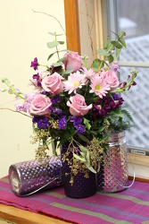 Delight Mom (Purple Vase) from Olney's Flowers of Rome in Rome, NY
