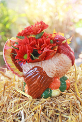 Ceramic Turkey *Cash & Carry* from Olney's Flowers of Rome in Rome, NY