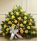 Sincerest Sympathies Fireside Basket- Yellow from Olney's Flowers of Rome in Rome, NY