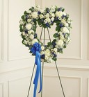 Always Remember ™ Blue & White Floral Heart Tribute from Olney's Flowers of Rome in Rome, NY