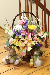 Bunny Trail Basket from Olney's Flowers of Rome in Rome, NY