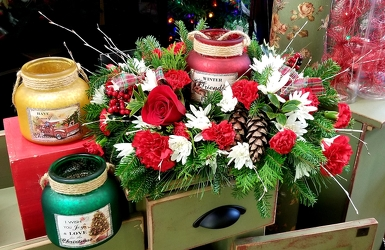 Christmas Hurricane from Olney's Flowers of Rome in Rome, NY