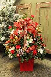 Deluxe Holiday Flower Tree from Olney's Flowers of Rome in Rome, NY
