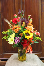 Fall Celebrations Canning Jar from Olney's Flowers of Rome in Rome, NY