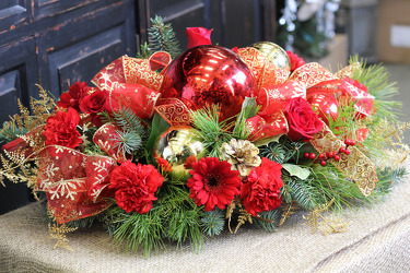 Grand Holiday Centerpiece from Olney's Flowers of Rome in Rome, NY