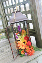Harvest Lantern from Olney's Flowers of Rome in Rome, NY