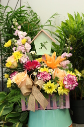 The Best Mom - Birdhouse Picket Fence from Olney's Flowers of Rome in Rome, NY