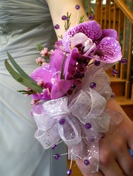 Purple Orchid Wrist Corsage from Olney's Flowers of Rome in Rome, NY