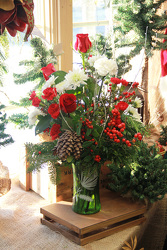 Winter Pine Vase  from Olney's Flowers of Rome in Rome, NY