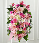 The FTD® Gently into the Ever-After™ Standing Spray from Olney's Flowers of Rome in Rome, NY
