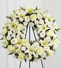 The FTD® Treasured Tribute™ Wreath from Olney's Flowers of Rome in Rome, NY