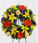 The FTD Radiant Remembrance(tm) Wreath from Olney's Flowers of Rome in Rome, NY