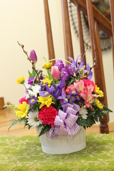 Spring Inspiration Basket from Olney's Flowers of Rome in Rome, NY
