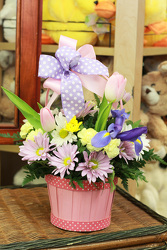 Spring Spirit  Basket from Olney's Flowers of Rome in Rome, NY