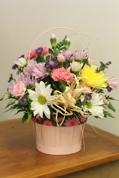 Stunning Mom Pink Basket from Olney's Flowers of Rome in Rome, NY