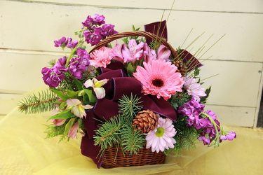 Sugar Plum Basket from Olney's Flowers of Rome in Rome, NY