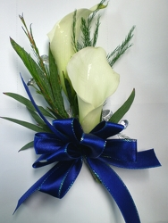 White Calla Lily Wrist Corsage from Olney's Flowers of Rome in Rome, NY