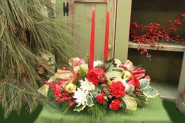 Yuletide Greetings from Olney's Flowers of Rome in Rome, NY