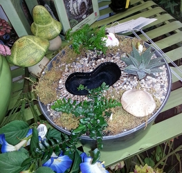 Fairy Garden with Pool from Olney's Flowers of Rome in Rome, NY