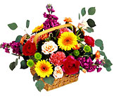 FTD Razzle-Dazzle Bouquet- Bright Colored Basket from Olney's Flowers of Rome in Rome, NY