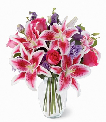 Olneys flowers of rome ny rome new york flower shop bright beautiful bouquet stargazers purple stock from olneys flowers of rome in rome click here for larger image mightylinksfo