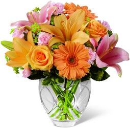 The FTD Brighten Your Day Bouquet - Peaches & Pinks from Olney's Flowers of Rome in Rome, NY