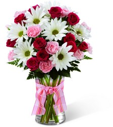 The FTD Sweet Surprises Bouquet- White & Pink Vase from Olney's Flowers of Rome in Rome, NY