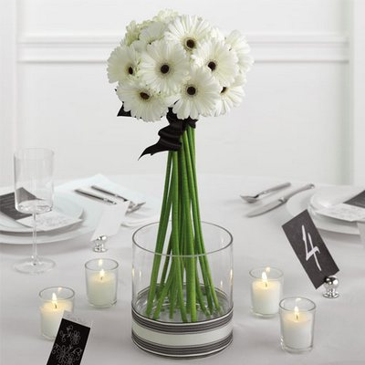 Olneys flowers of rome ny rome new york flower shop white gerbera daisy centerpiece from olneys flowers of rome in rome ny click here for larger image white gerbera daisy centerpiece mightylinksfo