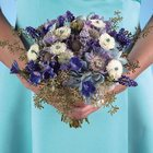 Blue & Lavender Bridesmaid Bouquet from Olney's Flowers of Rome in Rome, NY