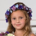 Blue & Lavender Flower Girl Halo from Olney's Flowers of Rome in Rome, NY
