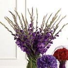 Purple Gladiolus Altar Arrangement from Olney's Flowers of Rome in Rome, NY