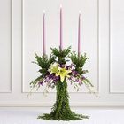 Greenery Candelabra Altar Arrangement from Olney's Flowers of Rome in Rome, NY