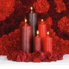 Red Altar Candle Arrangment from Olney's Flowers of Rome in Rome, NY