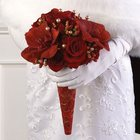 All Red Bridal Bouquet from Olney's Flowers of Rome in Rome, NY