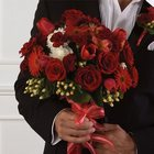 Mixed Red Bridal Bouquet from Olney's Flowers of Rome in Rome, NY