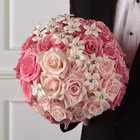 Pink Rose Bridal Bouquet from Olney's Flowers of Rome in Rome, NY