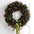 Mixed Hypericum Wreath from Olney's Flowers of Rome in Rome, NY