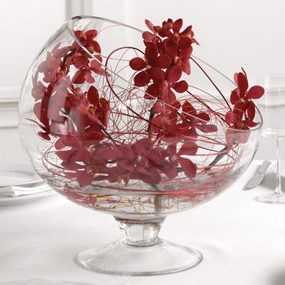 Red Mokara Orchid Centerpiece