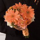 Mixed Peach Bridal Bouquet from Olney's Flowers of Rome in Rome, NY