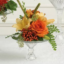 Small Orange Mix Altar Arrangement from Olney's Flowers of Rome in Rome, NY