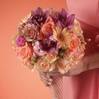 Peach Mixed Bridesmaid Bouquet from Olney's Flowers of Rome in Rome, NY