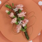 Peach Miniature Carnation Corsage from Olney's Flowers of Rome in Rome, NY