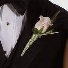 Pink Rose Boutonniere from Olney's Flowers of Rome in Rome, NY