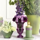 Purple Urn Vase Altar Arrangement from Olney's Flowers of Rome in Rome, NY