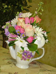 Mom's Elegance Tea Pot from Olney's Flowers of Rome in Rome, NY