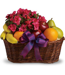 Fruits and Blooms Basket from Olney's Flowers of Rome in Rome, NY