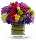 Teleflora's One Fine Day - Bright Cube from Olney's Flowers of Rome in Rome, NY