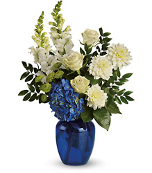Ocean Devotion - Blue & White Vase from Olney's Flowers of Rome in Rome, NY